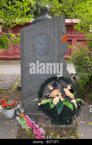 The grave of the Soviet Russian composer Anatoliy Nivikov (1896-1984) at Novodevichy Cemetery in Moscow, Russia - Stock Photo
