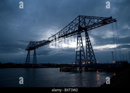 Transporter Bridge, Middlesbrough - Stock Photo