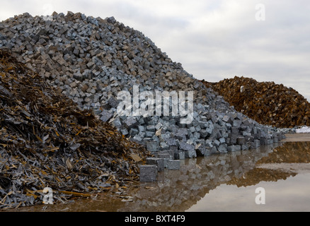 Scrap Metal Merchants  _ Scrap and Salvaged Metal for Recycling _ Metals and Materials and Equipment, Liverpool, - Stock Photo