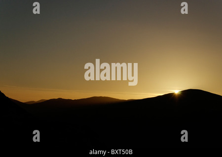 The Snowdon massif from the Dinorwic slate quarry - Stock Photo
