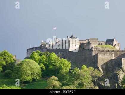 Edinburgh castle, east walls - Stock Photo