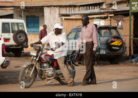 JUBA, SOUTHERN SUDAN, December 2010: Street scene in town. Photo by Mike Goldwater / Christian Aid - Stock Photo