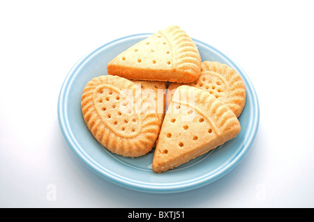 Shortbread biscuits on a plate - Stock Photo