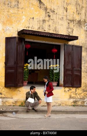Street scene, Hoi An, Vietnam - Stock Photo