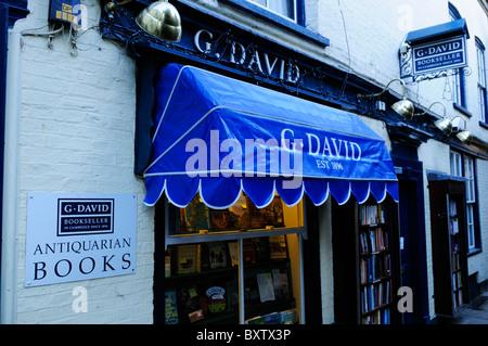 G.David Antiquarian Bookshop, St Edwards Passage, Cambridge, England, UK - Stock Photo