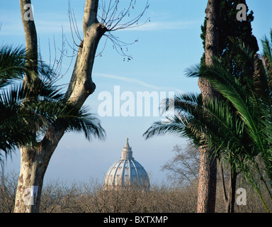 Dome Of St. Peters Basilica As Seen From Passagi Del Gianicolo - Stock Photo