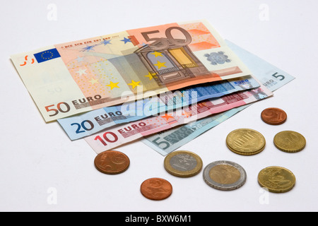 currency crisis of the EUR awaited collapse of the single currency symbol picture for the death of the Euro - Stock Photo