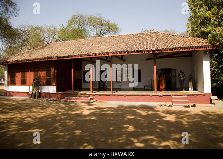 One of the buildings within the Sabarmati Ashram (also known as the Gandhi or Satyagraha or Harijan Ashram) in Ahmedabad, - Stock Photo