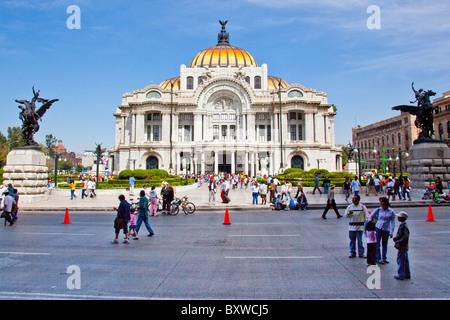Palacio de Bellas Artes or the Palace of Fine Arts, Mexico City, Mexico - Stock Photo