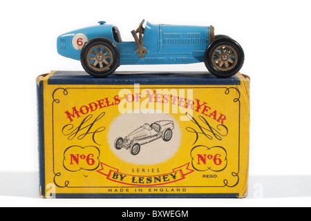 Models of Yesteryear 1926 Type 35 Bugatti Issued in 1961 and produced by Lesney Company in England - Stock Photo