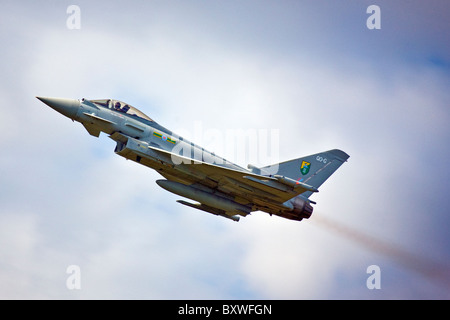 RAF Eurofighter Typhoon jet fighter at the Wings and wheels display at Dunsfold Surrey UK  2010 - Stock Photo