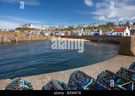 Harbour, Findochty, Moray, Scotland, United Kingdom - Stock Photo