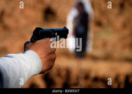 Aiming the target - Stock Photo