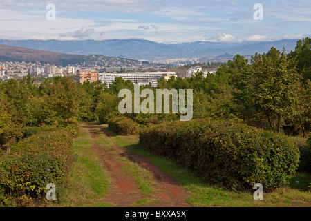 View of part of Tbilisi Georgia from Vake Park. JMH4087 - Stock Photo