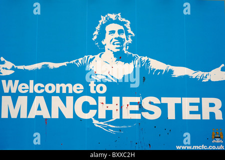 welcome to manchester - Stock Photo