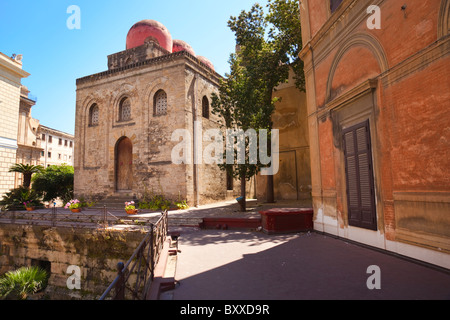 San Cataldo's Church in Palermo on Piazza Bellini (Sicily, Italy) - Stock Photo