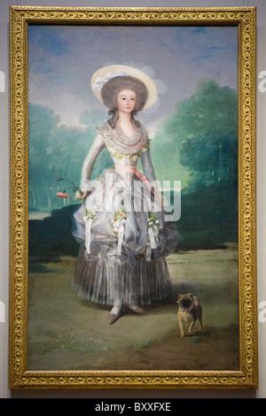 'The Marquesa de Pontejos' by Francisco de Goya, 1786 - Stock Photo