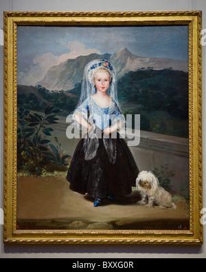 'The Marquesa de Pontejos' by Francisco de Goya , circa 1786 - Stock Photo