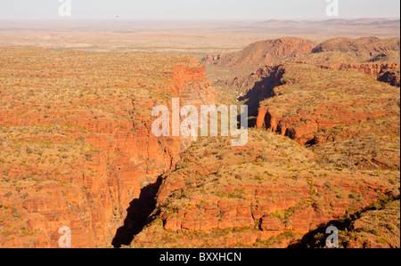 Aerial view of Piccaninny Gorge, Bungle Bungles, Purnululu National Park, Kimberley, Western Australia - Stock Photo