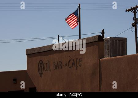 Cafe restaurant in San Antonio, New Mexico, USA - Stock Photo