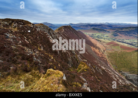 Looking towards Causey Pike and the Newlands Valley - Stock Photo