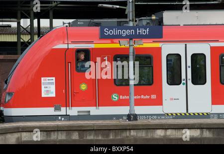 S Bahn or suburban train, Solingen, Germany. - Stock Photo