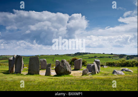 Drombeg Stone Circle, County Clare, Ireland - Stock Photo