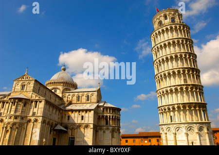 Leaning Tower of Pisa - A UNESCO World Heritage Site, Piazza del Miracoli , Pisa, Italy - Stock Photo
