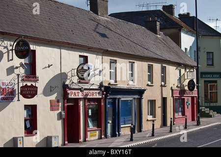 Pat Short Bar, Pharmacy and Barber Shop near Youghal, County Cork, Ireland - Stock Photo