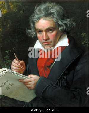 Beethoven, Ludwig van Beethoven, German composer and pianist. - Stock Photo