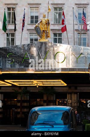 Savoy Hotel, Strand,, London, England, UK, Europe - Stock Photo