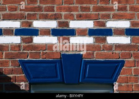 Painted Brickwork England UK - Stock Photo