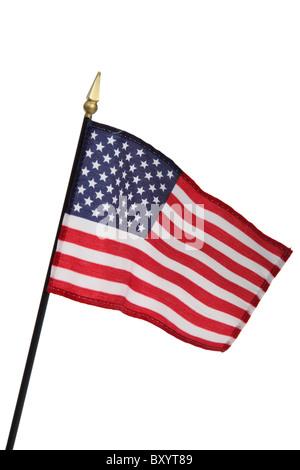United States of America flag on white background - Stock Photo