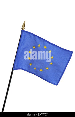 European Union flag on white background - Stock Photo