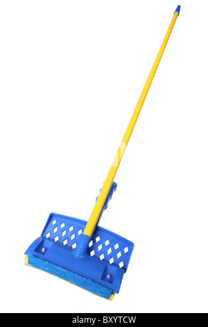Household mop on white background - Stock Photo