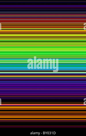 Multicoloured striped patterns. Digitally crafted from a photograph - Stock Photo