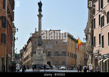Rome. Italy. Palazzo di Propaganda Fide. - Stock Photo