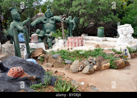 Credo Mutwa Cultural Village, Soweto, Johannesburg, South Africa - Stock Photo