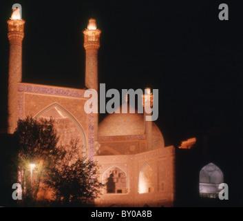 Iran Isfahan Imam mosque at night 1973 - Stock Photo