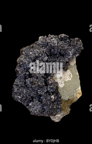 Sphalerite - Zinc sulfide - Tri-state district - Joplin Missouri - an ore of zinc - Stock Photo