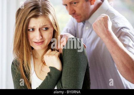 Couple domestic violence - Stock Photo