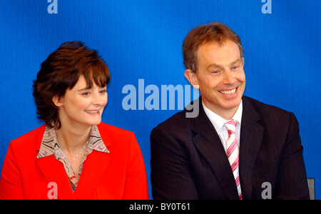 The British Prime minister Tony Blair with his wife Cheri. - Stock Photo