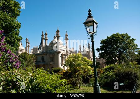 Brighton Pavilion, Brighton, East Sussex, England - Stock Photo