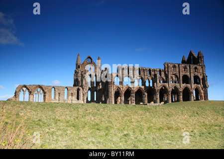 Ruins of Whitby Abbey, North Yorkshire - Stock Photo