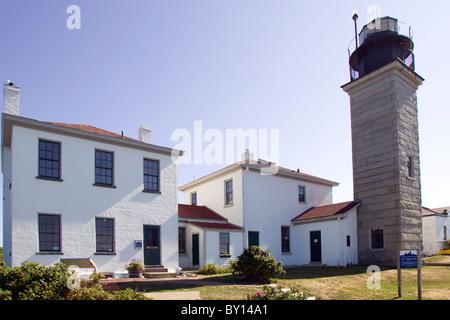 Lighthouse at Jamestown Rhode Island - Stock Photo