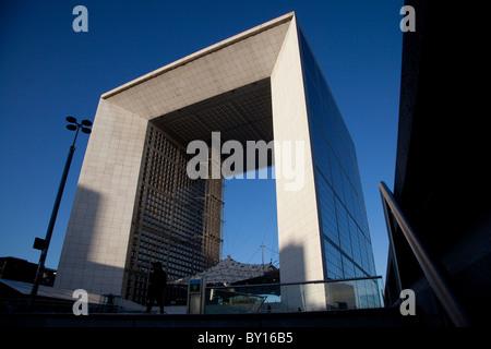 The Grand Arch in La Defense, Paris, France Stock Photo