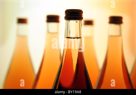 Bottles on a shelf - Stock Photo