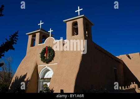 San Francisco De Asis Church in Taos New Mexico - Stock Photo