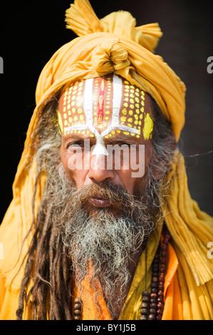 Asia, Nepal, Kathmandu, Kathmandu Valley, Durbar Square, Sahdu - Stock Photo