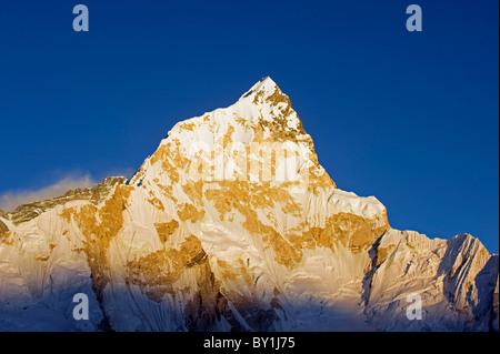 Asia, Nepal, Himalayas, Sagarmatha National Park, Solu Khumbu Everest Region, Unesco World Heritage, Nuptse (7861m), - Stock Photo